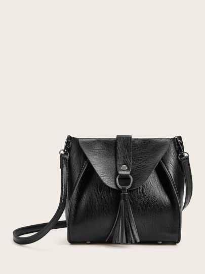Tassel Decor Crossbody Bag