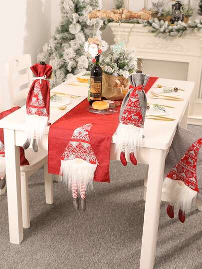1pc Christmas Decorative Table Runner