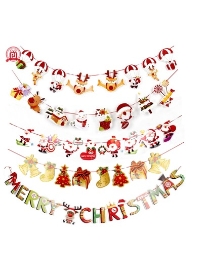 1pc Christmas Decorative Banner