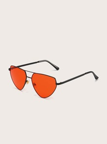 Top Bar Metal Frame Sunglasses With Case