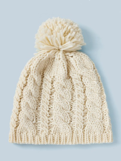 Braided Knitted Beanie