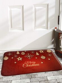 Christmas Print Floor Mat