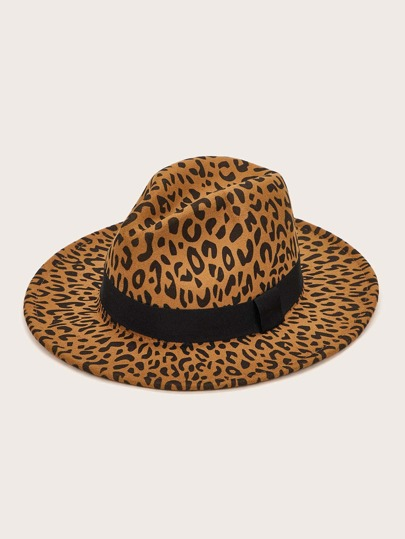 Leopard Pattern Floppy Hat