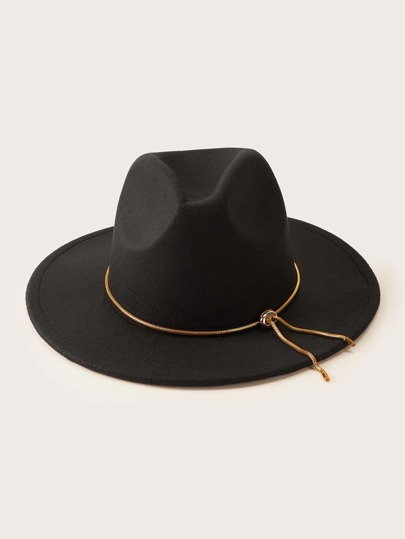 Belt Decor Floppy Hat