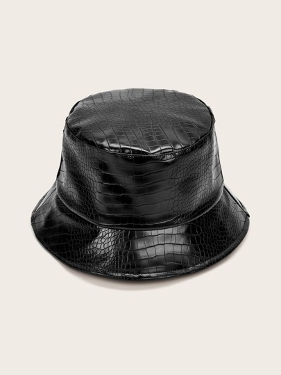 Crocodile Pattern Bucket Hat