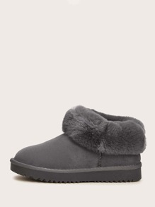Faux Fur Decor Snow Boots