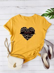 Heart And Letter Graphic Tee