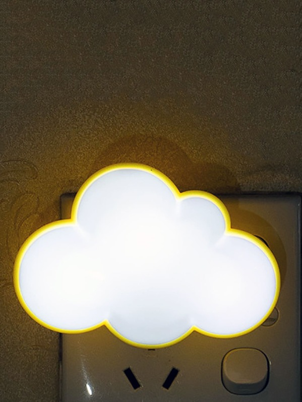 1pc Cloud & Clover Shaped Night Light, Multicolor