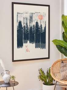 Forest Landscape Wall Print Without Frame