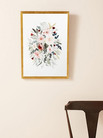 Watercolor Flower Wall Print Without Frame