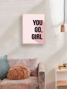 Simple Slogan Wall Art Print Without Frame