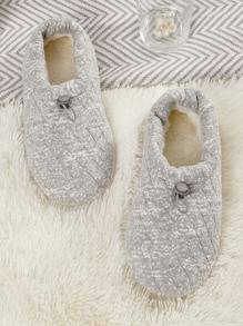 Faux Fur Lined Wide Fit Slippers