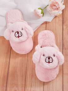 Dog Decor Fluffy Slippers