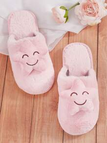 Star Decor Fluffy Slippers