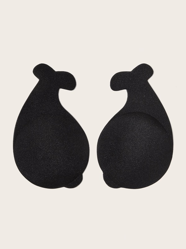 1pair Dolphin Shaped Nipple Cover, Black