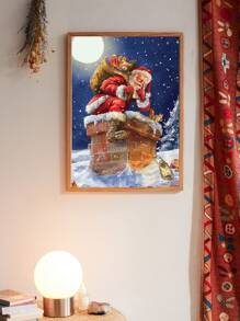Christmas Santa Claus Wall Print Without Frame