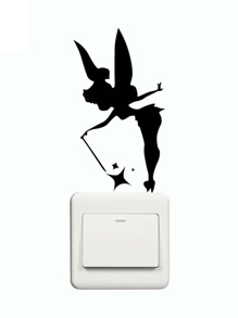 Angel Silhouette Switch Sticker
