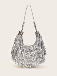 Metallic Slouch Hobo Bag