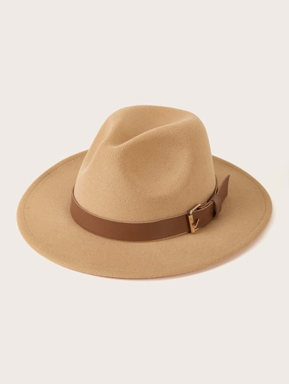 Belt Decor Fedora Hat