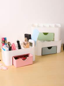 1pc Random Double Layer Cosmetic Storage Box