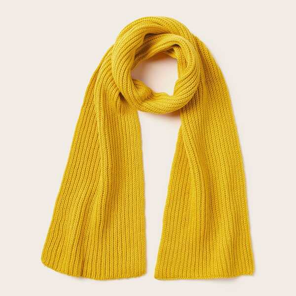 Toddler Kids Knitted Scarf, Yellow