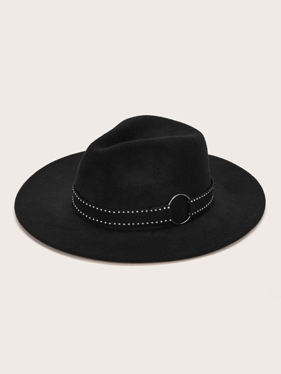 Rivet Belt Decor Floppy Hat