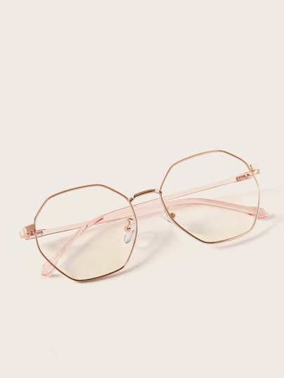 Polygon Metal Frame Glasses