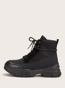 Lace-up Front Hiking Boots