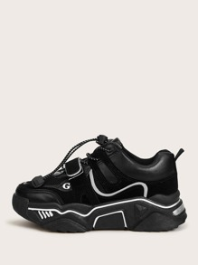 Drawstring Design Chunky Sneakers