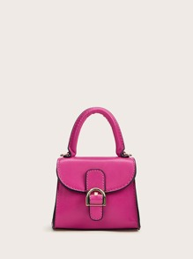 Mini Buckle Strap Satchel Bag