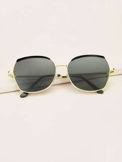 Metal Frame Sunglasses With Case