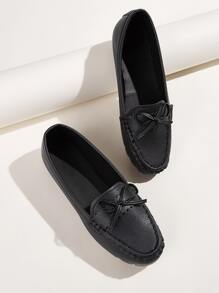 Bow Decor Flat Loafers