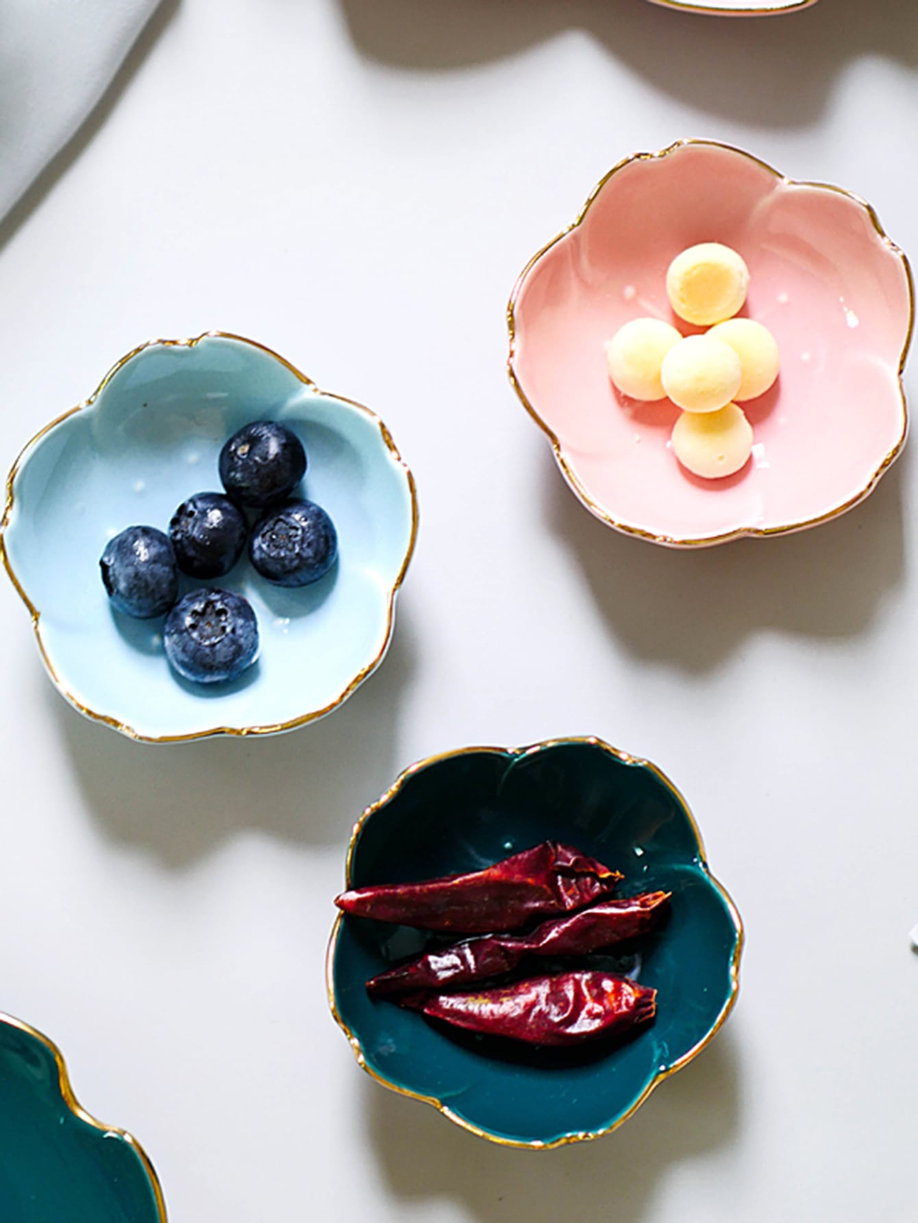 1pc Flower Shaped Ceramic Bowl Shein In