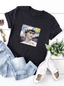 Figure Graphic Short Sleeve Tee