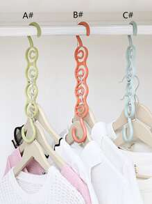 1pc Multifunctional Four-hole Hanger Storage Rack