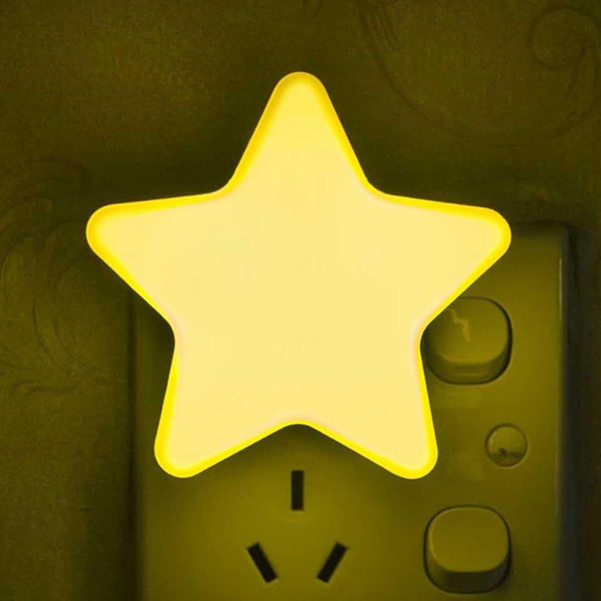 Ночный свет в форме звезды 1шт