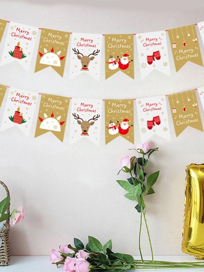 1pc Christmas Decorative Hanging Banner