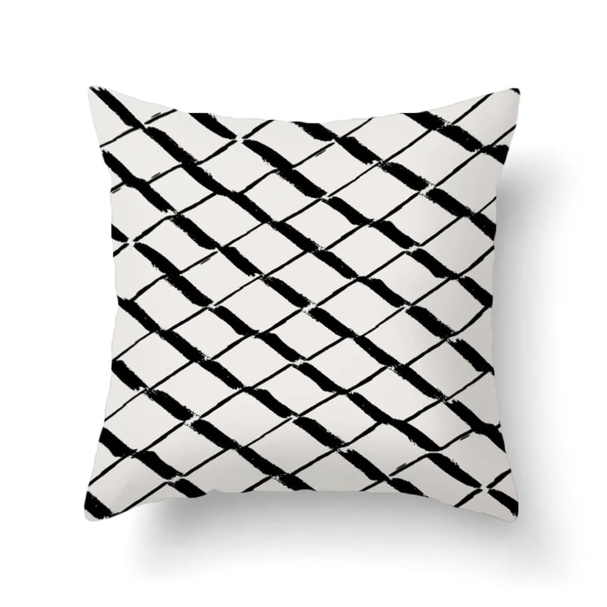 1pc Abstract Geometric Cushion Cover Without Filler