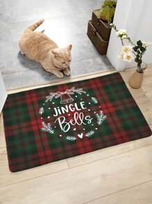 Christmas Plaid Pattern Floor Mat