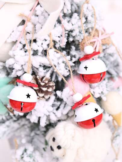 2pcs Christmas Bell Hanging Ornament