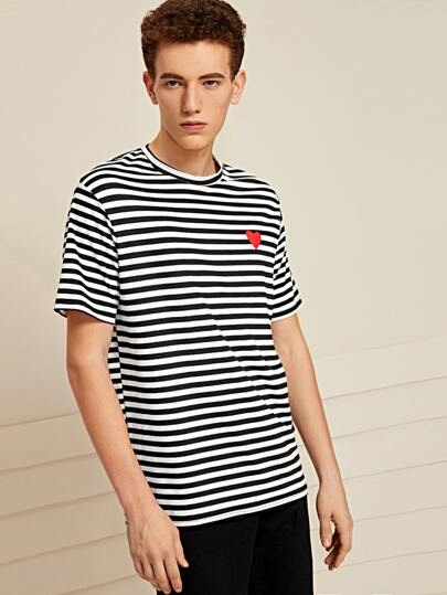 Guys Heart and Striped Tee