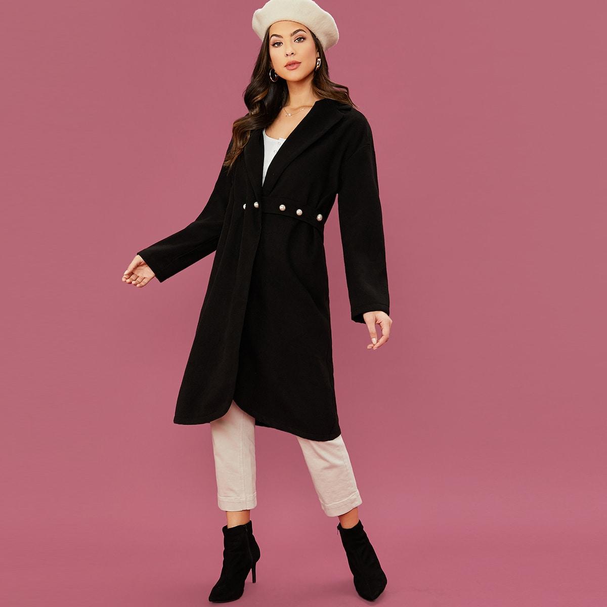 Mantel mit Knöpfen vorn