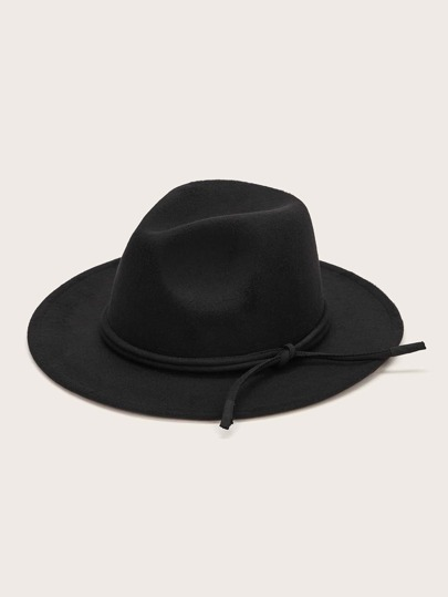 Solid Knot Decor Fedora Hat