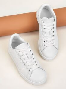 Lace-up Front Low Top Sneakers