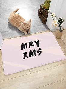 Christmas Letter Graphic Floor Mat