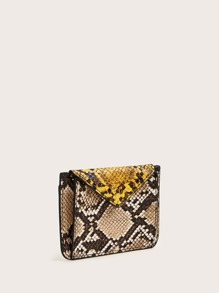 Snakeskin Print Wallet With Card Holder