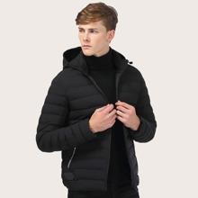 Guys Zip Through Hooded Padded Jacket