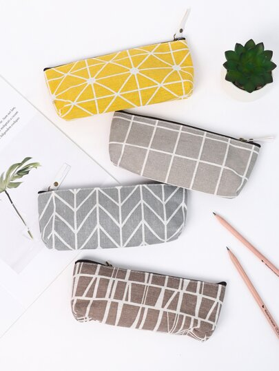 1pc Geometric Pattern Pencil Bag