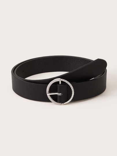 Half Twist O-ring Brushed Buckle Belt