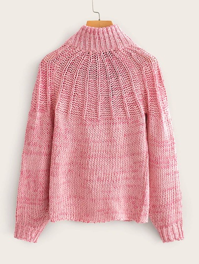 Cut Out Tie Back Ribbed Knit Sweater